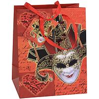 Пакет подарочный Венецианская маска, 18 см x 23 см x 10 см. 21238C0042416Бумажный подарочный пакет, оформленный изображением венецианской маски, с глянцевой ламинацией и золотистым тиснением, станет незаменимым дополнением к выбранному подарку. Для удобной переноски на пакете имеются две ручки из шнурка. Подарок, преподнесенный в оригинальной упаковке, всегда будет самым эффектным и запоминающимся. Окружите близких людей вниманием и заботой, вручив презент в нарядном, праздничном оформлении. Характеристики: Материал: бумага, текстиль.Размер: 18 см х 23 см х 10 см.Производитель: Китай.Артикул: 21238.
