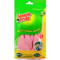 Перчатки хозяйственные Scotch-Brite. Размер L531-105Хозяйственные перчатки Scotch-Brite, ароматизированные ванилью, предохраняют кожу рук от загрязнения и влаги, они идеально подходят для стирки, уборки и прочих работ по хозяйству. Перчатки удобные и мягкие, изготовлены из натурального латекса. Напыление из хлопка на внутренней поверхности впитывает влагу.
