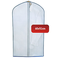 Чехол для одежды Hausmann, 60 х 92 см 2B-360921004900000360Удобный чехол для одежды на молнии из прочного дышащего и водонепроницаемого материала обеспечит надежное хранение Вашей одежды, защитит от повреждений во время хранения и транспортировки. Особая фактура ткани не пропускает пыль и при этом позволяет воздуху свободно проникать внутрь, обеспечивая естественную вентиляцию.Характеристики: Материал: полиэтилен, нетканное полотно. Размер: 60 см х 92 см. Артикул: 2B-36092.Произведено в Китае по заказу Hausmann.Продукция компании Hausmann достаточно хорошо известна на российском рынке. Используя современные технологии в качестве неисчерпаемого источника для вдохновения, она не перестает радовать покупателей товарами отменного качества. Разнообразие товаров приятно удивляет. Вы действительно сможете найти то, что вам необходимо! Вся продукция тщательно проверяется на предмет надежности и безопасности, и вы можете быть уверенными в том, что купленная однажды вещь долго прослужит вам верой и правдой.