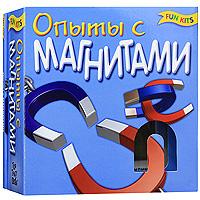 """С набором для творчества """"Опыты с магнитами"""" Вы сможете самостоятельно провести 20 увлекательных экспериментов, а также поиграть с магнитами. В набор входит все необходимое: 7 магнитов различной формы, капсула с железной стружкой. Для более интересной игры в набор входит увлекательная книга с цветными иллюстрациями и инструкциями."""