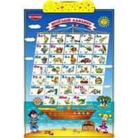 """Обучающая игра """"Веселый алфавит"""" поможет вашему ребенку весело и легко освоить буквы, звуки и изучить алфавит. Игра представляет собой интерактивную игровую панель, оформленную красочными картинками с изображением букв алфавита, при этом картинка еще и озвучена. В игре есть три режима работы: Режим """"Запоминаем"""": Буквы. При нажатии кнопок, расположенных рядом с каждой буквой, игра произносит названия букв. Звуки. Игра произносит звуки, соответствующие букве. Слова. Произносится звук и слово на соответствующую букву. Это слово проиллюстрировано картинкой. Чей звук. Нажатие кнопок в этом режиме сопровождается проигрыванием звуков, соответствующих нарисованной картинке. Режим """"Играем"""": Буквы. Игра задает вопрос, произнося буквы в случайном порядке. Дается 2 попытки ответа на поставленный вопрос. Звуки. Аналогично предыдущему режиму игра просит показать букву, соответствующую произнесенному звуку. Слово. В случайном..."""
