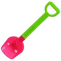 Лопата, цвет: зеленый, розовый, 35 см