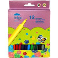 """Набор """"Idigo"""" состоит из 12 цветных фломастеров. Фломастеры рисуют яркими насыщенными цветами. Чернила на водной основе легко смываются с рук и одежды. Фломастеры """"Idigo"""" не высыхают, находясь без колпачка до 5 дней. Подходят для рисования на различных поверхностях."""