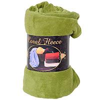 """Плед флисовый """"Coral Fleece"""", цвет: фисташковый, 220 х 200 см, Guten Morgen"""