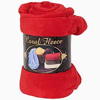"""Плед флисовый """"Coral Fleece"""", цвет: красный, 220 х 200 см, Guten Morgen"""