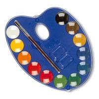 """Акварельные полусухие краски """"Primo"""" идеально подойдут для детского и художественного изобразительного искусства. Яркие, насыщенные цвета отлично смешиваются между собой и дают множество оттенков. Рисование развивает мелкую моторику ребенка, чувство цвета, позволяет малышу выразить свое эмоциональное состояние. В наборе краски 12 цветов и кисточка."""