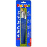 """Набор для рисования """"Primo"""" состоит из пяти плоских кистей, изготовленных из натуральной щетины. В наборе: кисти №0, №2, №4, №6, №8. Кисти предназначены для художественных и творческих работ для школьников и студентов."""