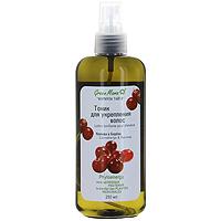 Тоник для укрепления волос Клюква и береза, 250 млFS-00897Этот тоник — фитоэликсир из вытяжек 12 растений для ослабленных, усталых волос. Он возвращает им силу, блеск и здоровье. Тоник стимулирует местное кровообращение, витаминизирует и насыщает биоактивными веществами волосяные луковицы и кожу головы, препятствует выпадению волос, появлению перхоти. Придает эластичность и послушность, облегчая моделирование причёски. Помогает сохранять естественный гидро-баланс при неблагоприятном воздействии внешней среды — сухости и загрязнённости воздуха, избытке кальция и хлора в воде и т. д. Phytoenergy – сила целебных растений. Характеристики: Объем: 250 мл. Производитель:Россия. Франко-российская производственная компания Green Mama была образована в 1996 году и выросла из небольшого семейного бизнеса. В настоящее время Green Mama является одним из признанных мировых специалистов в области разработки и производства натуральных косметических продуктов. Косметические средства Green Mama содержат только натуральные растительные компоненты, без животных жиров. Содержание натуральных компонентов в средствах Green Mama достигает 98%. Чтобы создать такой продукт специалисты компании используют новейшие достижения науки и технологии косметического производства. В компании разработана и принята в производстве концепция Aromaenergy, согласно которой в косметические продукты введены 100% натуральные эфирные масла. Кроме того, Green Mama полностью отказалась от использования синтетических отдушек и красителей, поэтому продукция компании является гипоаллергенной. Товар сертифицирован.