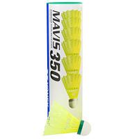 Набор воланов для игры в бадминтон  Mavis 350 , цвет полосы: зеленый, 6 шт - Бадминтон