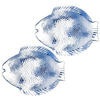 Набор тарелок Marine, цвет: голубой, 6 штVT-1520(SR)Набор Marine состоит из 6 тарелок в форме рыбок. Изделия, выполненные из закаленного стекла с оттенком голубого цвета, предназначены для красивой сервировки различных блюд. Тарелки сочетают в себе изысканный дизайн с максимальной функциональностью. Оригинальность оформления придется по вкусу и ценителям классики, и тем, кто предпочитает утонченность и изящность. Характеристики: Материал: стекло. Размер тарелки: 26 см х 2 см х 21 см. Размер упаковки: 25 см х 22 см х 7 см. Комплектация:6 шт. Производитель: Турция. Изготовитель: Россия. Артикул: 10257BM.