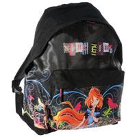 """Детский рюкзак с красочным изображением героини известного мультсериала """"Winx Club"""" Блум обязательно понравится вашей малышке, и она с удовольствием будет носить в нем любимые игрушки. Рюкзак изготовлен из плотного материала. Внутри рюкзак имеется одно вместительное отделение на застежке-молнии. Снаружи расположен дополнительный карман на застежке-молнии. У рюкзака регулируемые плечевые ремни и ручка в виде петельки."""