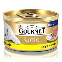 Консервы для кошек Gourmet Gold, паштет с курицей, 85 г12032582Корм Gourmet Gold консервированный полнорационный для взрослых кошек.Рекомендации по кормлению: для взрослой кошки среднего веса требуется 4 баночки корма Gourmet Gold в день. Кормление необходимо разделить минимум на два приема. Индивидуальные потребности животного могут отличаться, поэтому норма кормления должна быть скорректирована для поддержания оптимального веса вашей кошки. Для беременных и кормящих кошек - кормление без ограничений. Подавать корм комнатной температуры.Следите, чтобы у вашей кошки всегда была чистая, свежая питьевая вода. Условия хранения: Закрытую банку хранить в сухом прохладном месте. После открытия продукт хранить максимум 24 часа.Состав: мясо и субпродукты (из которых курицы 4%), продукты переработки овощей, минеральные вещества, сахара.Добавленные вещества: МЕ/кг: Витамин А: 1440; витамин D3: 220. мг/кг: железо: 10; йод: 0,2; медь: 0,9; марганец: 1,9; цинк: 10.С консервантом. Гарантируемые показатели: влажность 77%, белок 11%, жир 7%, сырая зола 3%, сырая клетчатка 0,1%.Товар сертифицирован.