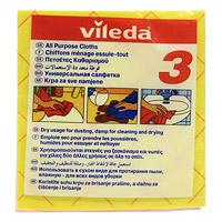 Набор универсальных салфеток Vileda, 3 шт. 1091853023-SFM_РозовыйНабор Vileda состоит из трех универсальных салфеток, которые идеально подходят для всех видов домашних работ. Они отлично впитывают влагу, удаляют пыль и загрязнения. Подходят для сухой и влажной уборки. Характеристики: Материал:70% вискоза, 20% полипропилен, 10% полиэстер. Размер: 40 см х 37 см. Комплектация:3 шт. Изготовитель: Германия. Артикул:109185.