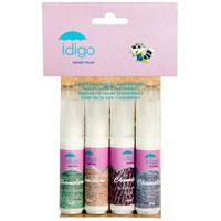 """Набор красок по ткани """"Idigo"""" на водной основе предназначены для создания рисунков непосредственно на ткани, с последующим фиксированием изображения с помощью утюга. Уникальные краски с эффектом хамелеона. При различных углах обзора и интенсивности освещения, покрашенная ткань будет иметь разные цвета и оттенки. Время высыхания зависит от толщины нанесенного слоя, и варьируется от 2 до 7 часов. Набор состоит из 4 красок голубого, персикового, сиреневого и зеленого цветов."""