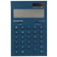 Стильный настольный калькулятор в ярком цветном корпусе с круглыми чувствительными кнопками оснащен большим 12-разрядным матричным дисплеем. Позволяет вычислять проценты, подсчитывать итоговую сумму вычислений. Калькулятор имеет двойную систему питания: от солнечного элемента и от батареи, - что гарантирует ему бесперебойную работу на несколько лет. Память,  12-ти разрядный дисплей,  Вычисление процентов,  Вычисление квадратного корня,   Цветной пластиковый корпус,  Двойное питание,   Пластиковые кнопки,   Итоговая сумма,  Удаление последнего введенного символа.       Характеристики: Размер калькулятора: 16,5 x 10,8 x 2,6 см. Размер дисплея: 9,1 см х 2,6 см. Цвет: морской волны. Изготовитель: Китай.