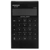 Калькулятор Assistant AC-2326, 12-разрядный, цвет: черныйC13S400035Яркий и практичный настольный калькулятор имеет матричный 12-разрядный большой дисплей, цветной пластиковый корпус (3 различных цвета) и прозрачную удобную чувствительную клавиатуру. Калькулятор идеален для нанесения фирменного логотипа. Калькулятор имеет двойную систему питания: от солнечного элемента и от батареи, - что гарантирует ему бесперебойную работу на несколько лет. С этим калькулятором Вы точно не забудете, какой расчет Вы собирались провести: подскажет дисплей с функцией отображения проводимого действия. ПамятьДвойное питание12-ти разрядный матричный дисплейВычисление процентовВычисление квадратного корня Цветной пластиковый корпус Прозрачные пластиковые кнопки Отображение проводимого действияУдаление последнего введенного символа Характеристики: Размер калькулятора: 18,3 x 10,7 x 1,5 см. Размер дисплея: 9,4 см х 2,6 см. Цвет: черный. Изготовитель: Китай.