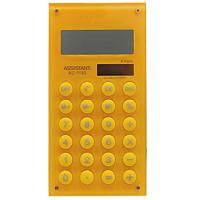 Калькулятор Assistant AC-1193, 8-разрядный, цвет: желтыйAC-1121RDСтильный карманный калькулятор в ярком цветном корпусе с круглыми резиновыми кнопками, окрашенными в цвет корпуса - это не только помощник в вычислениях, но и стильный деловой аксессуар. Калькулятор оснащен 8-разрядным дисплеем-линзой, увеличивающим цифры. Позволяет вычислять проценты и запоминать промежуточные результаты вычислений. Калькулятор имеет двойную систему питания: от солнечного элемента и от батареи. 8-разрядный дисплейВычисление процентов Цветной пластиковый корпусДвойное питание Резиновые кнопки Дисплей с выпуклой линзой Характеристики: Размер калькулятора: 12,1 x 6,1 x 0,9 см. Размер дисплея: 4,5 см х 1,6 см. Цвет: желтый.