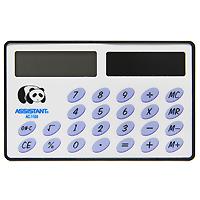 Калькулятор Assistant AC-1106, 8-разрядныйAC-2233_серыйНеобычная форма карманного калькулятора позволит Вам удобно разместить его в ладошке и легко произвести необходимые подсчеты. Калькулятор оснащен 8-разрядным большим дисплеем и горизонтальной формой. Питается калькулятор от солнечного элемента. 8-разрядный дисплейВычисление процентов Солнечная батарея Большой дисплей ПВХ обложка Размером с кредитную карточку Характеристики: Размер калькулятора: 5,4 x 8,6 x 0,35 см. Размер дисплея: 3,6 см х 1,1 см. Материал: пластик, ПВХ. Цвет: белый. Изготовитель: Китай.