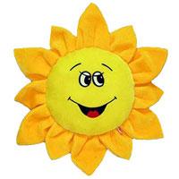 """Игрушка-подушка """"Цветик"""", выполненная в виде желтого подсолнуха, очень мягкая и приятна на ощупь, она станет прекрасным украшением интерьера детской комнаты, а также любимой вещью вашего малыша. Эта забавная подушка не оставит равнодушным не только ребенка, но и взрослого."""