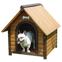 Деревянная будка для собак  Triol , 70 см х 76 см х 76 см - Будки для собак