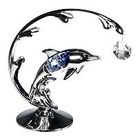 Декоративная композиция Дельфин, цвет: серебристый76635Декоративная композиция Дельфин дополнит интерьер любого помещения, а также может стать оригинальным подарком для ваших друзей и близких. Она сделана из белого металла и украшена австрийскими кристаллами. Оформление помещения декоративной композицией с дельфином создаст уютную, по-настоящему радостную и теплую атмосферу. Характеристики:Материал: металл, стразы сваровски. Высота: 13 см. Ширина:11 см. Размер упаковки:18 см х 14 см х 7,5 см. Производитель: Китай.Артикул: 67412. Более чем 30 лет назад компанияCrystocraftвыросла из ведущего производителя в перспективную торговую марку, которая задает тенденцию благодаря безупречному чувству красоты и стиля. Компания создает изящные, качественные, яркие сувениры, декорированные кристалламиSwarovskiразличных размеров и оттенков, сочетающие в себе превосходное мастерство обработки металлов и самое высокое качество кристаллов. Каждое изделие оформлено в индивидуальной подарочной упаковке, что придает ему завершенный и презентабельный вид.