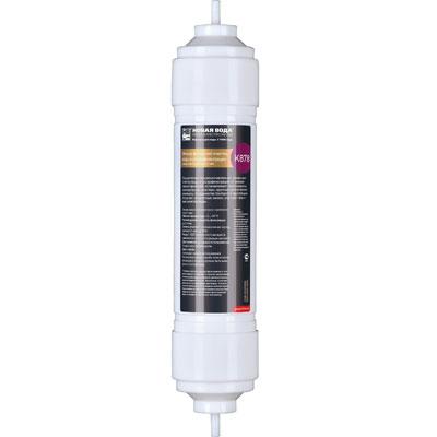 Фильтр Новая вода финишной очистки воды и ультрафильтрации. К878BL505Картридж финишной очистки воды и ультрафильтрации для фильтров Expert. Фильтрующий элемент K878 используется в качестве четвертой ступени фильтров Новая Вода Expert М400, М410, M420.Подходит также для модернизации моделей Expert M200, M300, M305.Осуществляет ультрафильтрационное кондиционирование воды с сохранением микроэлементного состава, финишную очистку воды и тонкую фильтрацию от механических примесей, останавливает коллоиды, молекулярные кластеры, крупные органические молекулы, большинство бактерий и простейших. Устраняет неприятные запахи, улучшает вкусовые качества воды. Характеристики: Состав:микростекловолоконная мембрана с размером пор 0,1 мкм. Рабочая температура воды: от +2 до +35 °C. Степень очистки от механических частиц крупнее 0,1 мкм:до 99%.Рекомендуемая скорость фильтрации: до 2 л/мин. Ресурс: 6000 литров или 6 месяцев (в зависимости от того, что раньше наступит). Производитель: Россия. Артикул: К878.