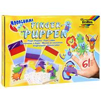 """Набор для создания пальчиковых игрушек """"Finger-puppen"""" непременно понравится вашему ребенку и займет его внимание надолго. В этом наборе целый кукольный театр, забавных актеров для которого можно создать своими руками, используя предложенные фигурки и декоративные элементы. Готовые фигурки надеваются на пальцы и - готово! Можно устраивать домашние представления. В наборе 15 различных фигурок: осьминога, слона, ската, жирафа, краба, льва, носорога, тигра, медузы, рака, мальчиков и девочек. Игра с набором развивает мелкую моторику и усидчивость, формирует художественный вкус и успокаивает."""