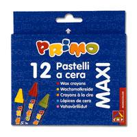 """Восковые мелки """"Primo"""" предназначены для рисования на бумаге, картоне и некоторых видах пластика. Мелки отлично передают цвета и имеют широкую гамму оттенков. В наборе 12 цветов: желтый, оранжевый, зеленый, красный, синий, бордовый, коричневый, голубой, черный, фиолетовый, розовый, темно-зеленый. Мелки изготовлены из натуральных компонентов на основе пчелиного воска. Они не осыпаются, не ломаются и ярко рисуют. Такие мелки отлично подойдут для детского творчества."""
