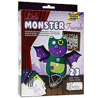 """С помощью набора """"Little Monster Friends: Летучая мышь"""" ваш ребенок сможет самостоятельно сделать забавную игрушку в виде очаровательной летучей мыши. В набор входят все необходимые аксессуары: войлок, цветные нитки, пуговицы, стразы и набивной материал. Игрушка, созданная своими руками, привлечет внимание окружающих и может стать отличным подарком друзьям и близким."""