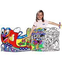 """Набор для рисования """"Carioca Luna Park"""", непременно, привлечет внимание вашего маленького художника. Набор включает в себя 48 фломастеров, акварельные краски, кисточку для растушевки, 12 восковых карандашей, панель-раскраска, которая состоит из двух листов с картинками и дополнительный элемент. Игра с набором поможет развить цветовое восприятие, воображение, моторику рук и координацию внимания, логическое мышление. Порадуйте своего непоседу таким замечательным подарком!"""