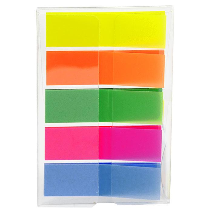 Закладки самоклеящиеся Info, 130 шт772751Многоразовые пластиковые закладки Info с липким слоем - эффективный способ выделить важную информацию без повреждения поверхности документа или книги. В комплекте закладки пяти цветов: желтого, оранжевого, зеленого, розового и голубого.Характеристики: Размер закладки: 1,3 см х 4,3 см. Комплектация: 130 шт.