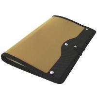 Визитница Index, на 120 визиток, цвет: золотой993224Современная практичная и вместительная визитница в обложке из высококачественного полипропилена с тканевой окантовкой и застежкой-резинкой рассчитана на 120 визиток. Характеристики:Материал: текстиль, пластик, металл. Размер визитницы (в закрытом виде): 14 см х 23,5 см х 1,5 см.