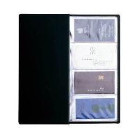 Визитница Panta Plast, на 96 визиток, цвет: черный392678Элегантная визитница с прозрачными карманами в обложке из высококачественного ПВХ предназначена для хранения и систематизации до 96 визитных карт. Характеристики:Материал: ПВХ, пластик. Размер визитницы (в закрытом виде): 12 см х 24,4 см х 0,4 см.