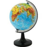 Глобус Rotondo с физической картой мира. Диаметр 20 смFS-00897Географический глобус Rotondo с физической картой мира станет незаменимым атрибутом обучения не только школьника, но и студента. На глобусе отображены линии картографической сетки, гидрографическая сеть, рельеф суши и морского дна, элементы почвенно-растительного покрова, крупнейшие населенные пункты, теплые и холодные течения.Глобус является уменьшенной и практически не искаженной моделью Земли и предназначен для использования в качестве наглядного картографического пособия, а также для украшения интерьера квартир, кабинетов и офисов. Красочность, повышенная наглядность визуального восприятия взаимосвязей, отображенных на глобусе объектов и явлений, в сочетании с простотой выполнения по нему различных измерений делают глобус доступным широкому кругу потребителей для получения разнообразной познавательной, научной и справочной информации о Земле. Характеристики: Общая высота:31 см. Диаметр глобуса:20 см. Масштаб:1:63000000. Размер упаковки:21 см x 20,5 см x 21 см.