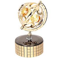Фигурка декоративная Глобус, на музыкальной подставке. 6741825051 7_желтыйДекоративная фигурка выполнена в виде глобуса, оформленного кристаллами Сваровски. Фигурка будет вас радовать и достойно украсит интерьер вашего дома или офиса. Вы можете поставить украшение в любом месте, где оно будет удачно смотреться и радовать глаз. Кроме того, эта фигурка - отличный вариант подарка для ваших близких и друзей. Музыкальный механизм с ручным заводом. Характеристики:Материал:углеродная сталь, австрийские кристаллы. Размер фигурки: 9 см х 5 см х 5 см. Размер упаковки: 10 см х 7,5 см х 5 см. Производитель: Китай. Артикул: 67418.Более чем 30 лет назад компанияCrystocraftвыросла из ведущего производителя в перспективную торговую марку, которая задает тенденцию благодаря безупречному чувству красоты и стиля. Компания создает изящные, качественные, яркие сувениры, декорированные кристалламиSwarovskiразличных размеров и оттенков, сочетающие в себе превосходное мастерство обработки металлов и самое высокое качество кристаллов.