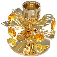 Подсвечник Цветок. 67517FS-91909Декоративное изделие в виде распустившегося цветка украшено кристаллами Swarovski. Миниатюра изготовлена из высококачественной стали. Оригинальный сувенир будет отличным подарком для ваших друзей и коллег. Более 30 лет компания Crystocraft создает качественные, красивые и изящные сувениры, декорированные различными кристаллами Swarovski.Характеристики:Материал:металл, австрийские кристаллы. Диаметр подставки (нижней части подсвечника): 6 см. Высота подсвечника: 6,5 см. Диаметр подставки для свечи: 2,5 см. Производитель:Китай. Артикул: 67517.