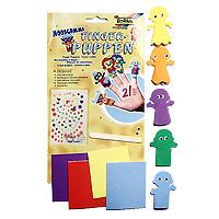 """Набор для создания пальчиковых игрушек """"Дети"""" непременно понравится вашему ребенку и займет его внимание надолго. В этом наборе целый кукольный театр, забавных актеров для которого можно создать своими руками, используя предложенные фигурки и декоративные элементы. Готовые фигурки надеваются на пальцы и - готово! Можно устраивать домашние представления. В наборе пять фигурок мальчиков и девочек. Игра с набором развивает мелкую моторику и усидчивость, формирует художественный вкус и успокаивает."""