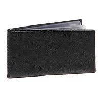 Компактная карманная визитница предназначена для хранения 24 визитных карт. Прозрачный внутренний блок на спайке. Обложка выполнена из высококачественного винила.