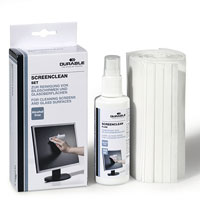 Набор Superclean Set для очистки мониторов и стеклянных поверхностей20475Набор Superclean Set для очистки мониторов и стеклянных поверхностей позволяет эффективно ухаживать за офисной и бытовой техникой, не оставляя разводов. В набор входят спрей Superclean Fluid с чистящей антистатической жидкостью и салфетки из нетканого материала, не оставляющие ворсинок. Характеристики: Объем спрея: 125 мл. Размер салфетки: 20 см х 14,5 см. Материал: текстиль, пластик. Размер упаковки: 8,5 см х 19 см х 5 см.