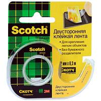 Клейкая лента Scotch, двусторонняя, на диспенсере136DДвусторонняя клейкая лента Scotch на диспенсере идеально подходит для крепления легких объектов,приклеивания фотографий, плакатов, упаковки подарков. Для компактной клейкой ленты на маленьком диспенсере с пластиковым ножом, легко найдется место на рабочем столе в офисе и дома. Характеристики: Ширина ленты: 1,2 см. Длина ленты:6,3 м. Размер диспенсера:8,2 см х 5,5 см х 1,5 см. Размер упаковки:8 см х 9,1 см х 1,5 см. Клейкая лента, диспенсер.