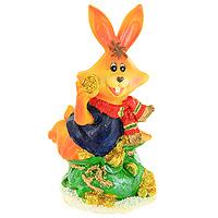 Декоративная фигурка Заяц с монетами. 20514THN132NДекоративная фигурка, выполненная в виде зайца, сидящего на мешке с золотыми монетами, будет вас радовать и достойно украсит интерьер. Фигурка украшена блестками. Вы можете поставить фигурку в любом месте, где она будет удачно смотреться и радовать глаз. Характеристики:Материал:пластик. Высота фигурки: 12 см. Изготовитель: Китай. Артикул: 20514.