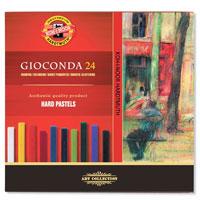 """Масляные мелки """"Gioconda"""" подходят и профессиональным, и начинающим художникам. Цвета хорошо смешиваются и растушевываются. В наборе 24 цветных мелка."""