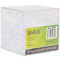 Бумага для записей Index, цвет: белый, в подставке, 700 листов0703415Белая бумага для записей Index идеально подойдет для важных пометок и записей. Высокое качество выделяет предлагаемую бумагу из ряда подобных. Бумага хранится в прозрачной пластиковой подставке с тремя отделениями для канцелярских принадлежностей. Характеристики: Материал: бумага, пластик. Размер листа: 9 см х 5,5 см. Размер блока: 9 см х 5,5 см х 9 см. Размер подставки: 9,5 см х 9,5 см х 9,5 см.