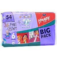Bella baby Happy Подгузники, 16+ кг, 54 шт влажные салфетки bella baby happy