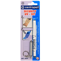 Набор Security Uv-Set: маркер с секретными чернилами, брелок с ультрафиолетовой лампой72523WDНабор Security Uv-Set предназначен, главным образом, для профилактических мер при охране имущества. Содержит маркер для надписей Security Uv-Pen с волокнистым острием диаметром 2 мм с чернилами, которые видны только при освещении специальной ультрафиолетовой лампой. Брелок с ультрафиолетовой лампой входит в комплект. Набор применяется для маркировки ценных предметов, электроники, сотовых телефонов и ценных бумаг. Характеристики: Материал:пластик, металл.Длина маркера:13,5 см. Диаметр маркера:1 см. Длина брелка (без учета цепочки):5,5 см. Маркер, брелок.
