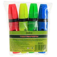 """Набор """"Index"""" состоит из 4 текстмаркеров с яркими светоустойчивыми чернилами и клиновидным наконечником. Они предназначены для выделения фрагментов документов, а также подходят для работы с любыми бумажными носителями, в том числе факсовыми письмами. Текстмаркеры """"Index"""" обеспечивают яркие и точные цветные линии высокой устойчивости. В наборе 4 цвета: розовый, зеленый, салатовый, голубой."""
