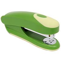 Степлер Fusion, для скоб №24/6, цвет: зеленый, желтый. IFS715GN/YLFS-36052Практичный степлер Fusion с вертикальной загрузкой скоб в эргономичном корпусе из яркого пластика. Степлер вмещает 100 скоб и рассчитан на скрепление до 20 листов. Загибает скобы в двух направлениях. Размер скоб: №24/6. Степлер снабжен инфо-окном, позволяющим оценить количество скоб. Характеристики:Размер: 13,5 см х 6 см х 4 см. Материал: пластик, металл. Цвет: зеленый, желтый.