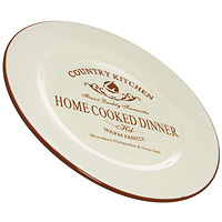 Тарелка Terracotta Кухня в стиле Кантри, 26 см. TLY802-1-CK-AL54 009312Обеденная тарелка Кухня в стиле Кантри изготовлена из жаропрочной керамики и покрыта высококачественной глазурью. Она способна не только украсить ваш дом, но так же пополнить вашу коллекцию.Данная посуда идеально подходит для выпечки, приготовления различных блюд и разогревания пищи в духовом шкафу или микроволновой печи. Может использоваться для хранения продуктов, в том числе в холодильнике. Характеристики: Материал:керамика. Диаметр тарелки: 26 см. Высота тарелки: 2,2 см. Размер упаковки: 27,5 см х 27,5 см х 2,5 см. Производитель: Италия. Изготовитель: Китай. Артикул: TLY802-1-CK-AL. Торговая марка Terracotta - это коллекции разнообразной посуды для сервировки стола, хранения продуктов и приготовления пищи из жаропрочной керамики, покрытой высококачественной глазурью. Изделия Terracotta идеально подходят для выпечки, приготовления различных блюд и разогревания пищи в духовом шкафу или микроволновой печи. Может использоваться для хранения продуктов, в том числе в холодильнике. При приготовлении или охлаждении пищи рекомендуется использовать постепенный нагрев или охлаждение. Посуда торговой марки Terracotta совмещает в себе современные технологии и новые идеи, благодаря чему достигаются высокое качество, разнообразие форм и дизайнов.