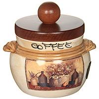 Банка для продуктов LCS Натюрморт Coffee 0,5 л LCS670PLCV-ALVT-1520(SR)Банка для сыпучих продуктов LCS Натюрморт с надписью Coffee изготовлена из высококачественной керамики. Рисунок-натюрморт на бежевом фоне выглядит особенно привлекательно. Крышка выполнена из натурального дерева и снабжена резиновым кольцом-уплотнителем для лучшей фиксации. Характеристики: Материал: керамика. Диаметр банки по верхнему краю (без крышки): 9,2 см. Высота банки (без крышки): 8,5 см. Высота банки (с крышкой): 12 см. Объем банки: 0,5 л. Размер упаковки: 13,5 см х 12,5 см х 14,5 см. Изготовитель: Италия. Артикул: LCS670PLCV-AL.