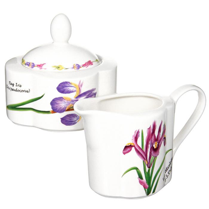 Набор посуды Ирисы: сахарница, молочник115610Набор Ирисы, выполненный из высококачественной керамики, станет оригинальным решением для вашей кухни. Набор включает в себя сахарницу и молочник. Такой набор отлично подойдет для красивой сервировки стола к завтраку.Характеристики:Материал:керамика.Высота молочника: 9 см.Объем молочника: 0,25 л.Размер сахарницы: 11 см х 6 см х 9 см.Объем сахарницы: 0,3 л.Размер упаковки: 18,5 см х 9,5 см х 10,5 см.Изготовитель: Китай.Артикул: IM15018B/C-A93AL. Изделия торговой марки Imari произведены из высококачественной керамики, основным ингредиентом которой является твердый доломит, поэтому все керамические изделия Imari - легкие, белоснежные, прочные и устойчивы к высоким температурам. Высокое качество изделий достигается не только благодаря использованию особого сырья и новейших технологий и оборудования при изготовлении посуды, но также благодаря строгому контролю на всех этапах производственного процесса. Нанесение сверкающей глазури, не содержащей свинца, придает изделиям Imari превосходный блеск и особую прочность.Красочные и нежные современные декоры Imari - это результат профессиональной работы дизайнеров, которые ежегодно обновляют ассортимент и предлагают покупателям десятки новый декоров. Свою популярность торговая марка Imari завоевала благодаря высокому качеству изделий, стильным современным дизайнам, широчайшему ассортименту продукции, прекрасным подарочным упаковкам и низким ценам. Все эти качества изделий сделали их безусловным лидером на рынке керамической посуды.